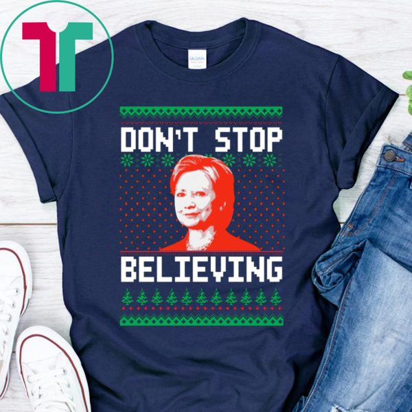 Hillary Clinton Don't stop Believing Christmas