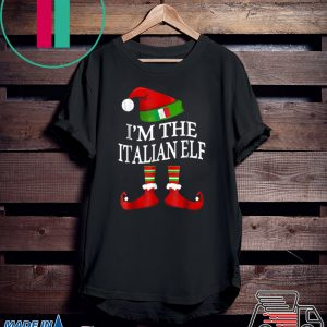 I'm The Italian Elf Matching Group Family Christmas shirt