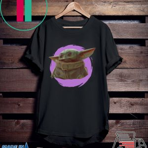 Star Wars Mandalorian Baby Yoda The Child Purple Ball Tee Shirt