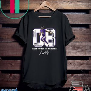 08 Lamar Jackson Thank You For The Memories Tee Shirts
