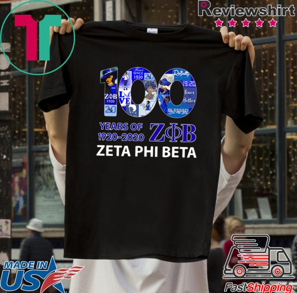 100 Years Of 1920-2020 ZOB Zeta Phi Beta Tee Shirts
