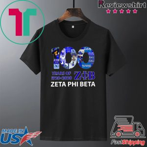 100 Years Of 1920 2020 Zeta Phi Beta Tee Shirts