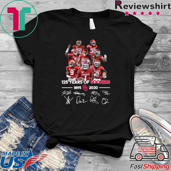 125 Years of Sooners 1895 2020 Players signatures Tee Shirt