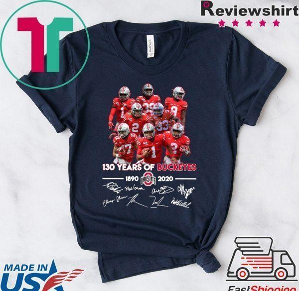 130 Years of Buckeyes 1890 2020 players signatures Tee Shirt