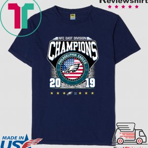 2019 East Division Champions Eagles Tee Shirts