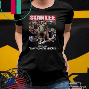 96 Years Of Stan Lee thank you for the memories signature Tee Shirt