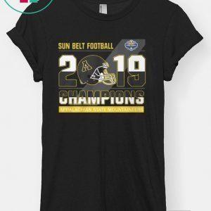 Appalachian State Mountaineers sun belt football champions 2020 T-Shirt