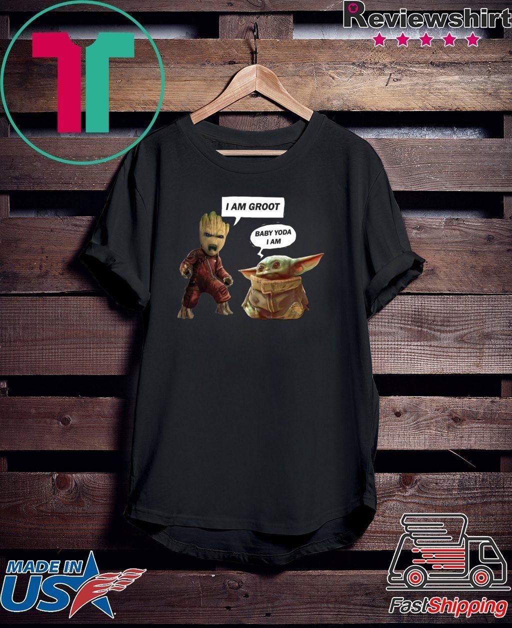 Baby Groot And Baby Yoda Tee Shirt Teeducks