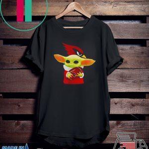 Baby Yoda Hug Arizona Cardinals Tee Shirt