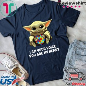 Baby Yoda Hug Autism I Am Voice You Are My Heart Tee Shirts