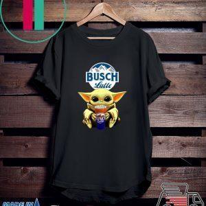 Baby Yoda Hug Busch Latte Beer Tee Shirt