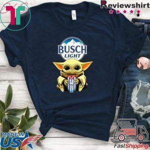 Baby Yoda Hug Busch Light Beer Tee Shirt