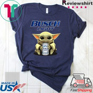 Baby Yoda Hug Busch Light Tee Shirt