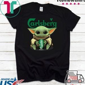 Baby Yoda Hug Carlsberg Tee Shirt