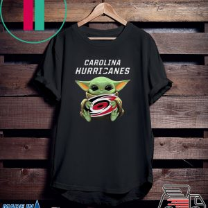 Baby Yoda Hug Carolina Hurricanes Tee Shirt