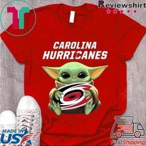 Baby Yoda Hug Caroline Hurricanes Shirt