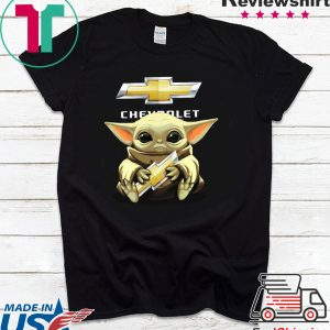 Baby Yoda Hug Chevrolet Tee Shirt