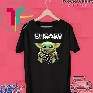 Baby Yoda Hug Chicago White Sox Logo Tee Shirt