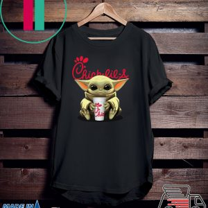 Baby Yoda Hug Chick-Fil-A Tee Shirts