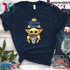 Baby Yoda Hug Corona Light Beer Tee Shirts