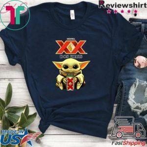 Baby Yoda Hug Dos Equis Beer Tee Shirts