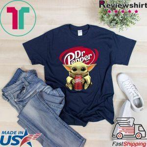 Baby Yoda Hug Dr Pepper 1985 Tee Shirts
