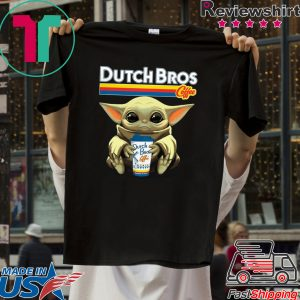 Baby Yoda Hug Dutch Bros Coffee original T-Shirt