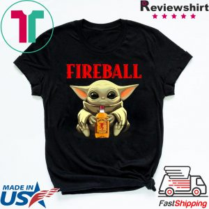 Baby Yoda Hug Fireball Tee Shirts