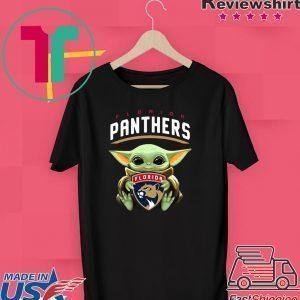 Baby Yoda Hug Florida Panthers Tee Shirts