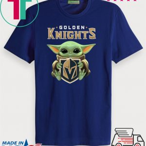 Baby Yoda Hug Golden Knights Tee Shirt