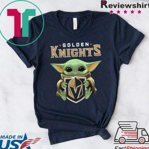 Baby Yoda Hug Golden Knights Classic T-Shirt