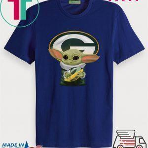 Baby Yoda Hug Green Bay Packer Tee Shirts