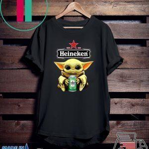 Baby Yoda Hug Heineken Beer Tee Shirts