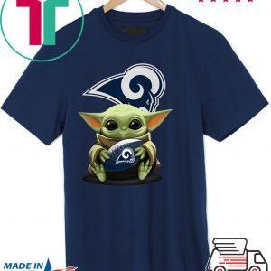 Baby Yoda Hug Los Angeles Rams Unisex T-Shirt
