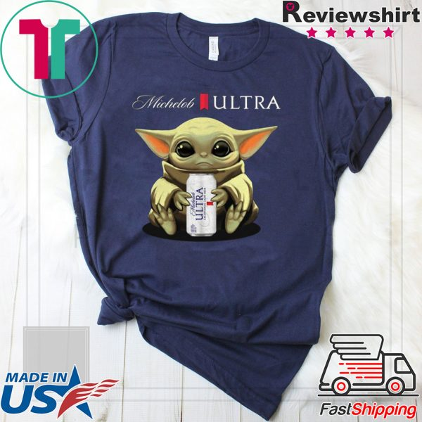 Baby Yoda Hug Michelob Ultra Tee Shirts