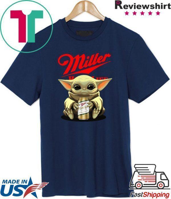 Baby Yoda Miller High Life Tee Shirts
