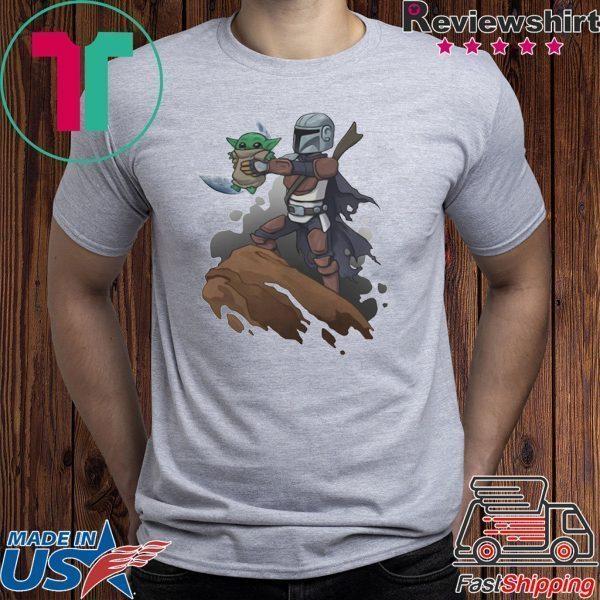 Baby Yoda The Manrorian Tee Shirts