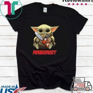 Baby Yoda hug Arborist Star Wars Tee Shirts