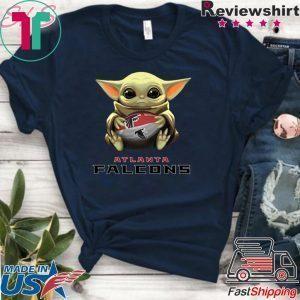 Baby Yoda hug Atlanta Falcons Tee Shirt