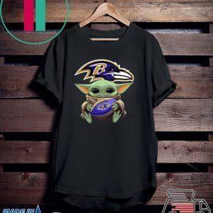 Baby Yoda hug Baltimore Ravens Shirts