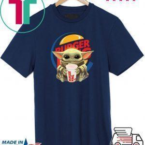 Baby Yoda hug Burger King Tee Shirt