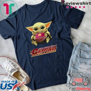Baby Yoda hug Central Michigan Chippewas Tee Shirt
