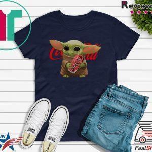 Baby Yoda hug Coca Cola Tee Shirt