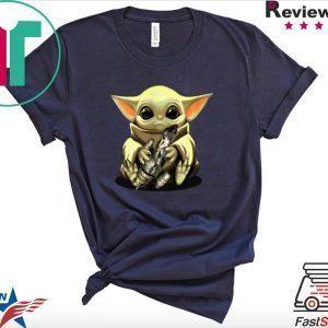 Baby Yoda hug Combat Aircrafts Star Wars Tee Shirts