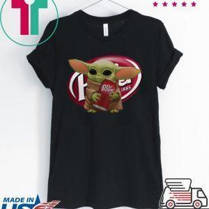 Baby Yoda hug Dr Pepper Tee Shirt