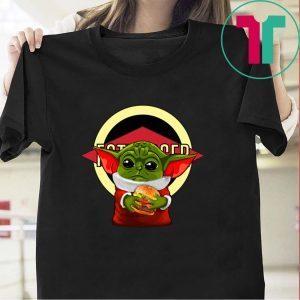 Baby Yoda hug Fatburger Tee Shirt