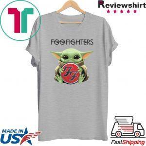 Baby Yoda hug Foo Fighters Tee Shirt