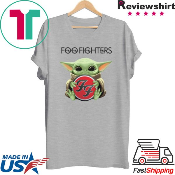 Baby Yoda hug Foo Fighters Tee Shirt