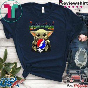 Baby Yoda hug Grateful Dead Star Wars Mandalorian Tee Shirt