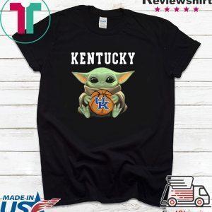 Baby Yoda hug Kentucky Wildcats Tee Shirts